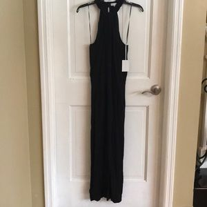 1. State Black Halter Long Pant Jumpsuit NWT